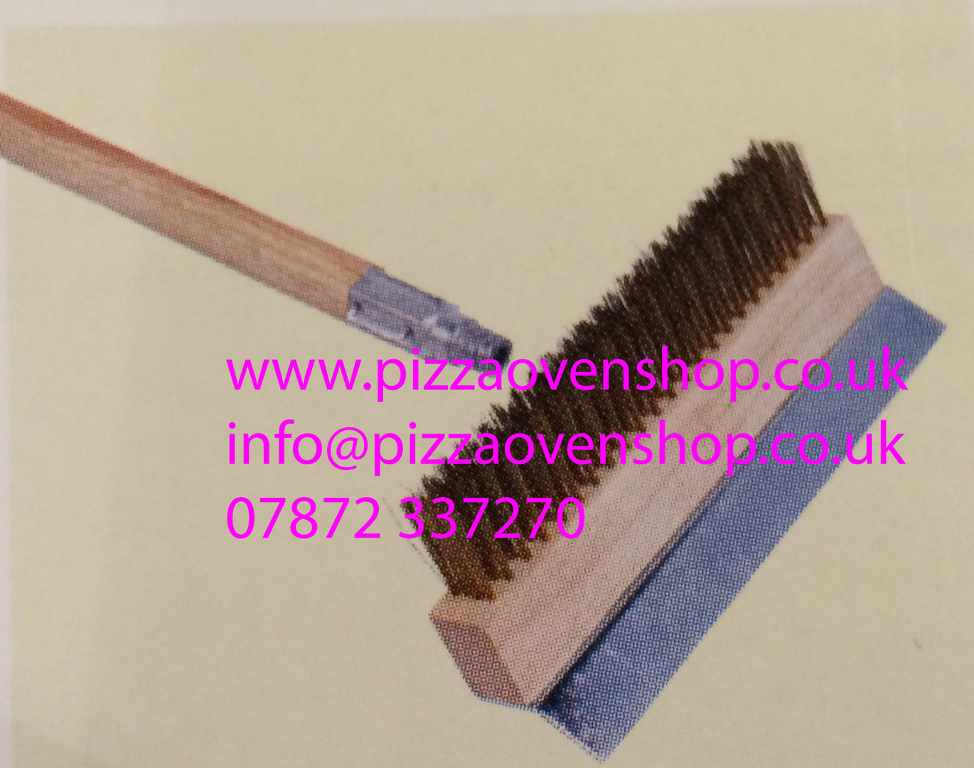 Pizza Oven Brush With Brass Bristles The Pizza Oven Shop