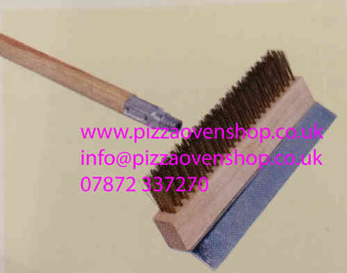 Pizza Oven Brush with brass bristles